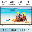 "Avera 49"" Ultra HD 4K 2160p 60Hz LED TV w/ 3 HDMI & Digital Tuner 49EXQ - NEW"