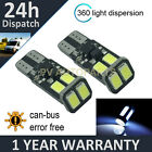 2X W5W T10 501 CANBUS ERROR FREE WHITE 6 SMD LED SIDELIGHT BULBS BRIGHT SL103602