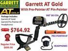 GARRETT AT GOLD SUBMERSIBLE METAL DETECTOR & PRO-POINTER AT - FREE SHIPPING