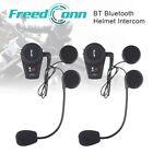 2x BT Motorcycle Intercom Biker Bluetooth Headset FM Interphone Helmet Headphone