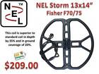"NEL 13x14"" STORM SEARCH COIL FOR FISHER F70/75 - FREE SHIPPING"