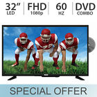 "RCA 32"" FULL HD 1080p LED 60Hz TV w/ 2 HDMI &  DVD Combo Player RTDVD3215 - NEW"