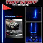 UTV ATV BLUE 6' LED WHIP 2 PACK (QTY 2) - 100 LED'S, QUICK CONNECT MOUNT & FLAG