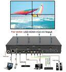 4-Channel HDMI VGA AV USB Video Processor 2x2 TV Projector Video Wall Controller