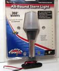 """BOAT STERN LIGHT 8"""" LOW PROFILE ALUM.POLE 360 VISIBILITY 12V PIGTAIL WIRE"""