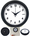 Large Non-Ticking Wall Clock Indoor/Outdoor Decorate Silent Modern Quartz Design