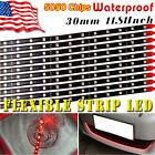 10X Red 30CM 5050 LED Car Motor Truck Boat Flexible Strip Light Waterproof 12V