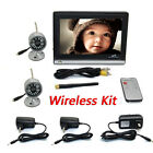 """Wireless 2.4G 2CH DVR 2Pcs IR Camera with 7""""TFT-LCD Monitor Home Security System"""