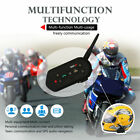 2 x BT Bluetooth Motorcycle Helmet Intercom Communication Headset 6 Riders 1200M