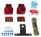 Red White Stop Trailer Light Kit 12V Turn Tail Truck License Boat Brake