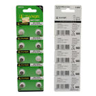 10pcs 1.55V AG1 364 LR621 164 531 SR60 Button Battery For Watches Cameras Toys