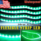 5X Green 30cm/15 LED Car Motor Boat Flexible Strip Light Bulbs 12V Waterproof US