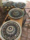"""Buick Regal 14"""" Wire Wheel Covers /Hub Caps Set of (4) 25505491 Buick RWD 80-87"""