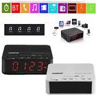 Digital Bluetooth Multimedia Speaker Alarm Clock FM Radio Player TF Card AUX US
