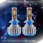 1 Set LED Headlight Kit High Beam Power Bulbs Lamp H7 6000K WHITE Light