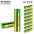 10pcs SKYWOLFEYE 18650 Battery 5000mAh Li-ion 3.7V Rechargeable Batteries USA