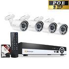 Jennov 4CH 1TB 1080P POE Security IP Camera Audio NVR System Outdoor IR Night