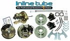 """64-74 AFX-body Front Rear Power Booster Disc Brake Conversion Cross Rotor 2""""Drop"""