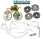 64-74 AFX-body Front Disc Brake Conversion Wheel Kit Rear Drum Kit with Lines OE