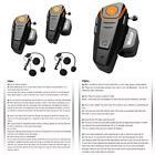 Veetop 2 x 800m Water Resistant Bluetooth Motorcycle Motorbike Helmet Intercom I