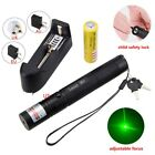 Adjustable 532nm Green Laser Pointer Light High Power +18650 Battery Charger