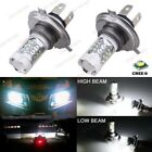 2Pcs H4 80W Cree LED Bright White Headlights Bulbs Lamp For Yamaha Snowmobiles