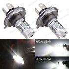 2Pcs H4 80W Cree LED White Headlights Bulbs Lamp For Arctic Cat Snowmobiles