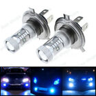 2Pcs H4 30W Cree LED Nice Blue Headlights Bulbs Lamp For Polaris Snowmobiles