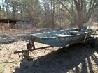 14' Aluminum Jon Boat with  trailer