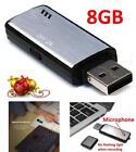 USB Mini 8GB Best Voice Activated Digital audio Spy Dictaphone Recorder NEW !!