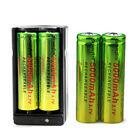 4pcs 5000mAh 18650 Battery SKYWOLFEYE Li-ion 3.7V Rechargeable +Dual Charger USA