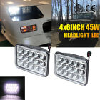 "2set 4X6"" LED Headlights CREE Light Bulbs Crystal Clear Sealed Beam Headlamp"