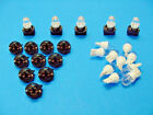 "15 White Domes LEDs Lights Bulbs 1/2"" Sockets Instrument Panel Dashboard Chevy"