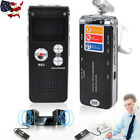 8GB Digital Audio Voice Rechargeable Recorder MP3 Player Dictaphone Telephone US