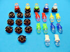 """15 Assort. Domes LEDs Lights Bulbs 1/2"""" Sockets Instrument Panel Dashboard Chevy"""