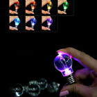 Novelty Colorful Mini LED Flashing Light Bulb Key Ring Lamp Key Chain Random