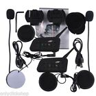 2* Motorcycle BT3.0 Helmet Headset Interphone Wireless 6 Riders Handsfree