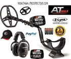 Garrett AT MAX Metal Detector, Wireless Headphones, Hat, Coil Cover NEW