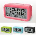 Snooze LED Plastic Digital desk Alarm Clock Date Time Smart Light Calendar gift