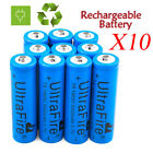 10pcs 3.7V 18650 3000mAh UltraFire Lithium Ion Battery Cell For FlashLight Torch