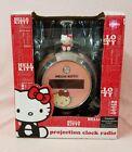 SANRIO KT2054 HELLO KITTY PROJECTION CLOCK RADIO