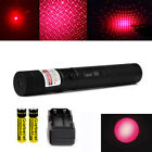 10Miles 650nm G303 Red Light Beam Adjustable Laser Pointer Pen Lazer &Battery