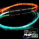 Double Space Whip Pro - 360 Degree Ball Bearing Tech Fiber Optic Rave EDM Disco