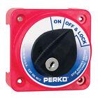 Perko 9612DP Compact Medium Duty Main Battery Disconnect Switch w/Key Lock 9612D