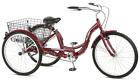 Best Schwinn 26 Meridian 3-Wheel Tricycle Adult Comfort Cruiser Trike Cherry Red