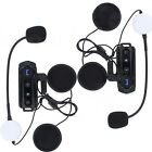 1000M Motorcycle Bluetooth Interphone Motor Helmet Intercom Headset FM Radio x2