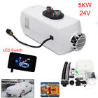 24V 5000W Air Diesel Fuel Heater LCD Monitor Set For Truck Boat Bus Car Housing
