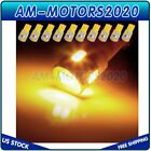 10x Xenon Yellow T10 W5W Rear Exterior LED Reverse Back up Light project Bulb