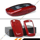 LUXURY RED REAL CARBON FIBER CASE COVER FOR BMW F30 F32 F22 F10 F80 F82 KEY FOB