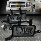FOR 15-16 CHEVY SUBURBAN/TAHOE SMOKED LENS OE DRIVING PAIR FOG LIGHT LAMP+SWITCH